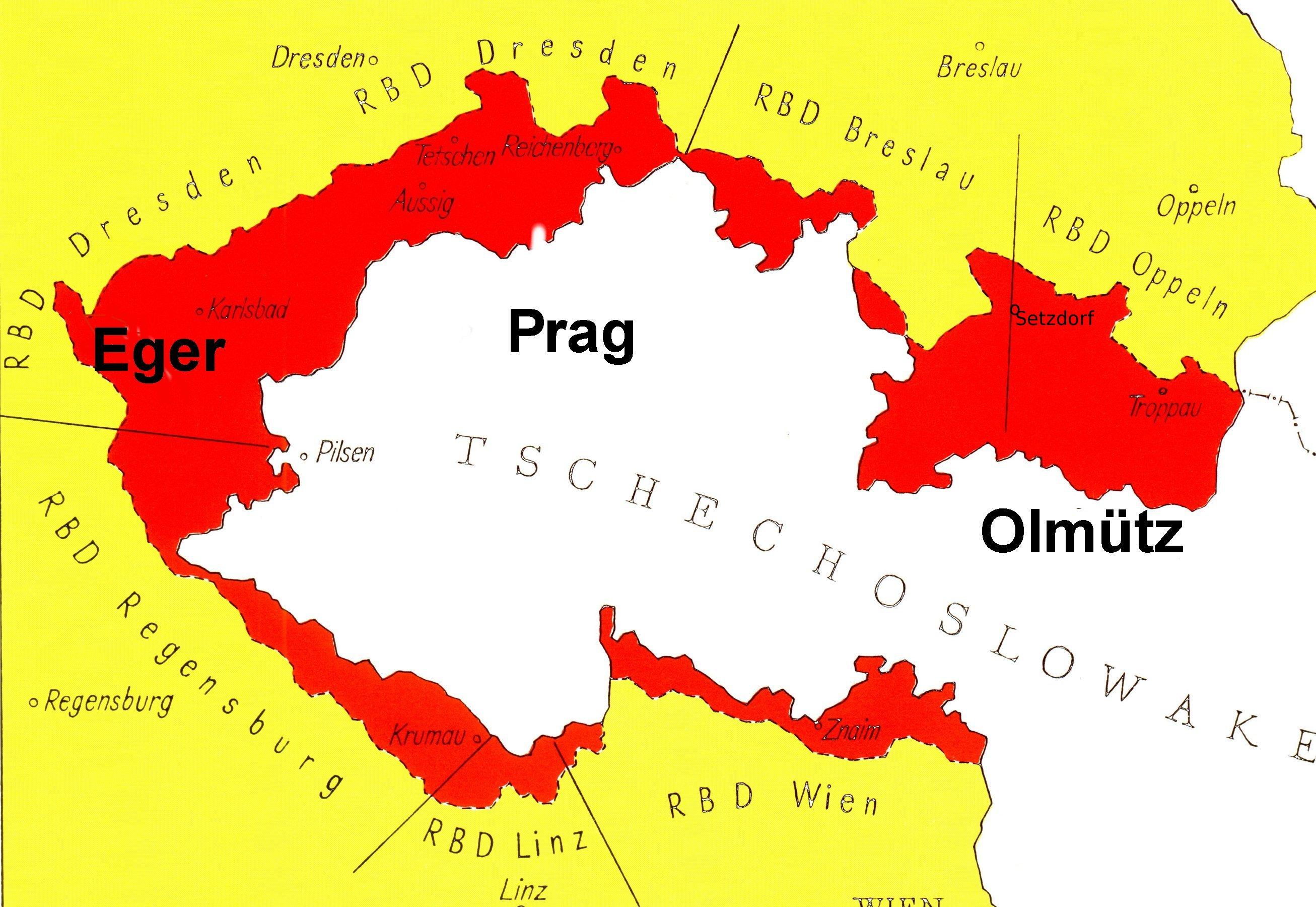 sudetenland map